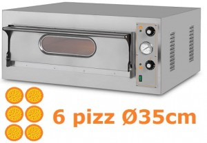 Piec do pizzy jednokomorowy elektryczny | 6x36 | Start 6 BIG