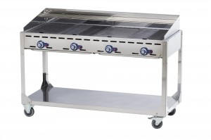 Grill Green Fire Kitchen Line 4-palnikowy, 2,2 kW, 1400x612x(H)825mm